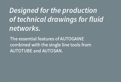 Pack AUTOFLUID LT software solution for pipeworks and ductworks drafting