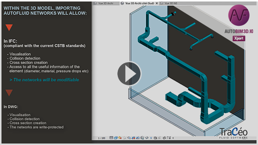 New in AUTOFLUID 10: AUTOBIM3D Xport - export in IFC and import into a modelling software