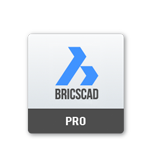 Logo Bricscad compatible with AUTOFLUID by Traceocad software package for the drafting of air conditioning plumbing and heating