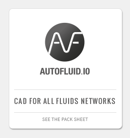 AUTOFLUID PACK: CAD application for heating, air conditioning, ventilation and plumbing plans
