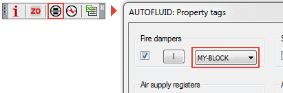 AUTOFLUID assigned blocks - HVAC Plumbing software